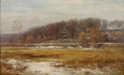 Alexander T Van Laer Early Snow Near Litchfield