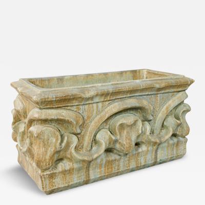 Alexandre Bigot French Art Nouveau Ceramic Planter by Bigot