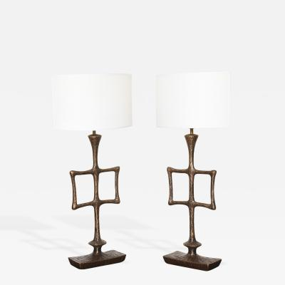 Alexandre Log Pair of Limited Edition Tahoma Table Lamps by Alexandre Log