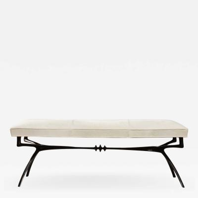 Alexandre Log Wide Version Atlante Sculptural Bronze Bench by Alexandre Log