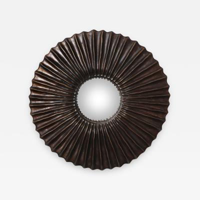 Alexandre Log Zelo Studio Built Bronze Wall Mirror by Alexandre Log