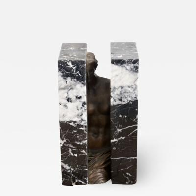 Alexandre Sosnowsky Marble and Bronze Sculpture Obliteration by Sacha Sosno