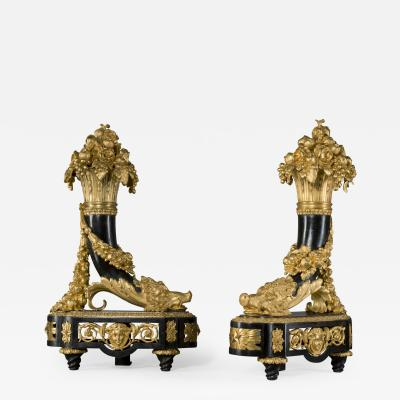 Alexandre Th odore Brongniart A Pair of Louis XVI Style Chenets