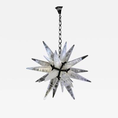 Alexandre Vossion Fantastic Rock Crystal Chandelier by Alexandre Vossion