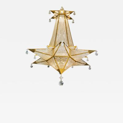 Alexandre Vossion ROCK CRYSTAL FOLIES MODEL CHANDELIER
