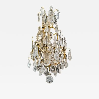 Alexandre Vossion ROCK CRYSTAL LOUIS THE XV TH STYLE CHANDELIER