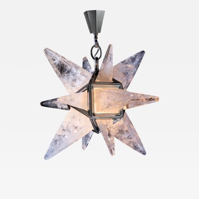 Alexandre Vossion ROCK CRYSTAL STAR II MODEL CHANDELIER SILVER EDITION