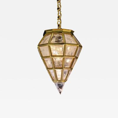 Alexandre Vossion Rock Crystal Chandelier Moden Lantern Diamond Model