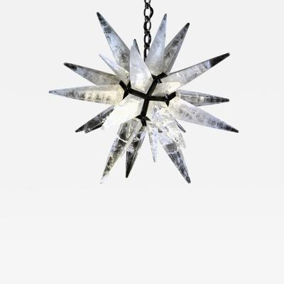 Alexandre Vossion Rock crystal STAR I chandelier BLACK edition