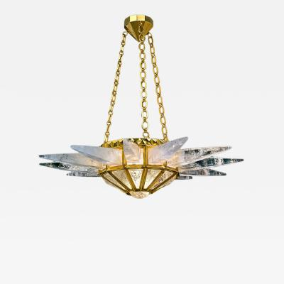 Alexandre Vossion Rock crystal chandelier