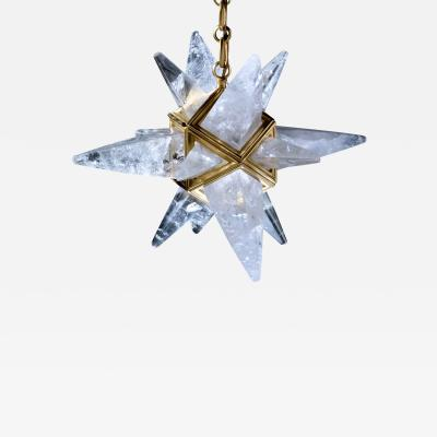 Alexandre Vossion Rock crystal star II chandelier Gold edition