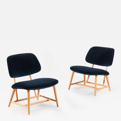 Alf Svensson Alf Svensson Pair of TeVe Lounge Chairs 1950s