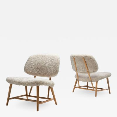 Alf Svensson Pair of TeVe Chairs by Alf Svensson for Studio Ljungs Industrier AB SWD 1950s