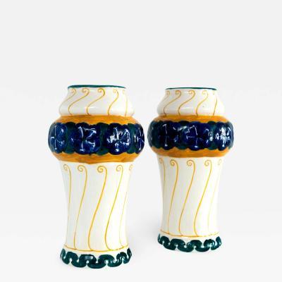 Alf Wallander Pair of Alf Wallander Vases R rstrand Swedish Art Nouveau
