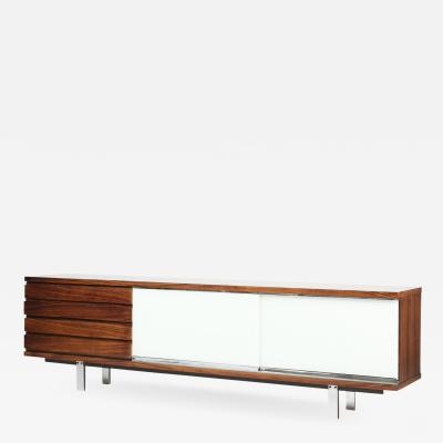 Alfred Altherr Alfred Altherr Palisander Sideboard with Glass Sliding Doors 60s