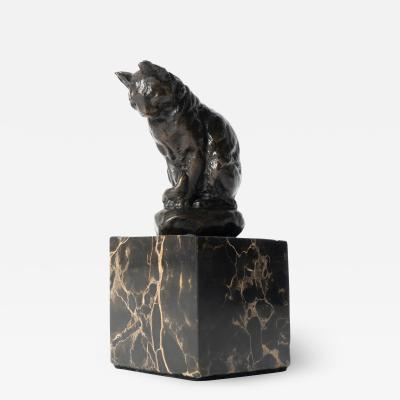 Alfred Barye Alfred Barye Cast Bronze Sculpture of a Cat