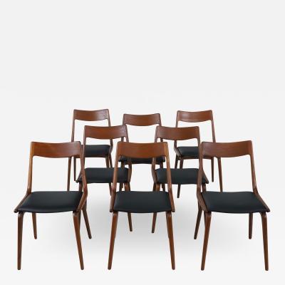 Alfred Christensen Set of Eight Scandinavian Modern Teak Dining Chairs by Alfred Christensen