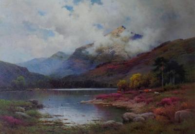 Alfred Fontville de Breanski At Inverlocy Argyll Oil Painting by Alfred Fontville de Breanski Signed