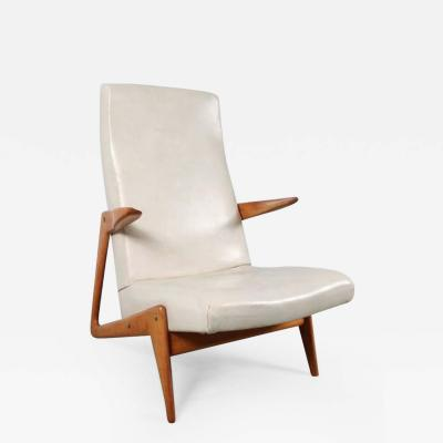 Alfred Hendrickx 1950s Lounge Chair Attributed to Alfred Hendrickx for Belform Belgium
