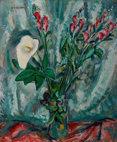 Alfred Henry Maurer Floral Still Life with Calla Lily
