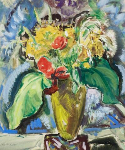 Alfred Henry Maurer Flowers in a Green Vase