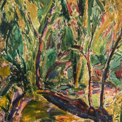 Alfred Henry Maurer Landscape Purple Tree c 1925
