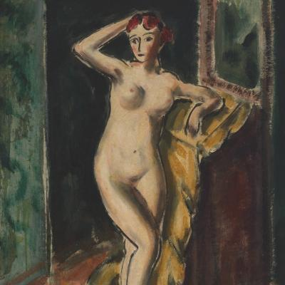 Alfred Henry Maurer Standing Female Nude double sided c 1925