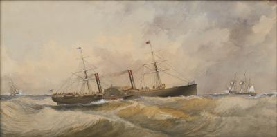 Alfred Jones Portrait of a Steamship
