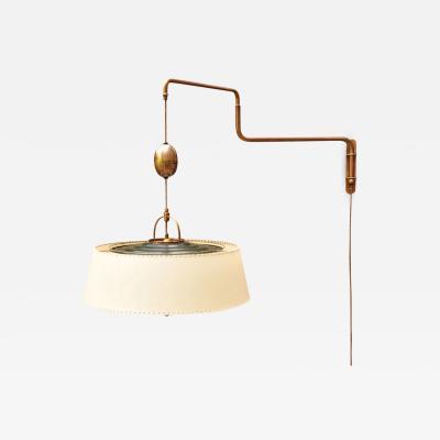 Alfred Muller AMBA Swing Arm Wall Lamp Switzerland 1940s