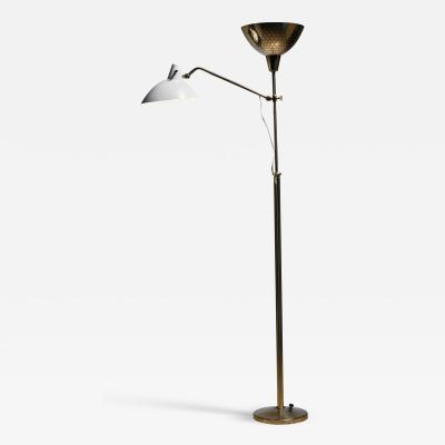Alfred Muller Floor Lamp with Two Shades by Alfred Muller Switzerland 1940s