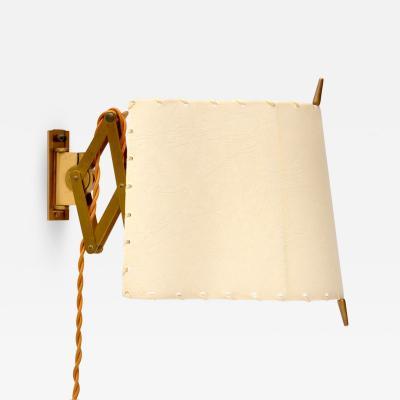 Alfred Muller Unihorn AMBA Accordion Wall Lamp Switzerland 1940s