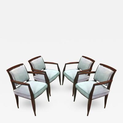 Alfred Porteneuve Alfred Porteneuve Set of Four Chic Armchairs