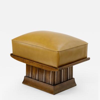 Alfred Porteneuve Alfred Porteneuve superb sturdy oak and leather stool