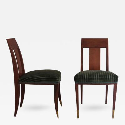 Alfred Porteneuve Pair of French Art Deco Side Chairs in the Manner of Alfred Porteneuve