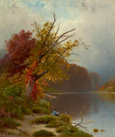 Alfred Thompson Bricher At the Lake 1873