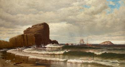 Alfred Thompson Bricher Rocky Shoreline