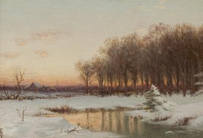 Alfred Thompson Bricher Winter Sunrise