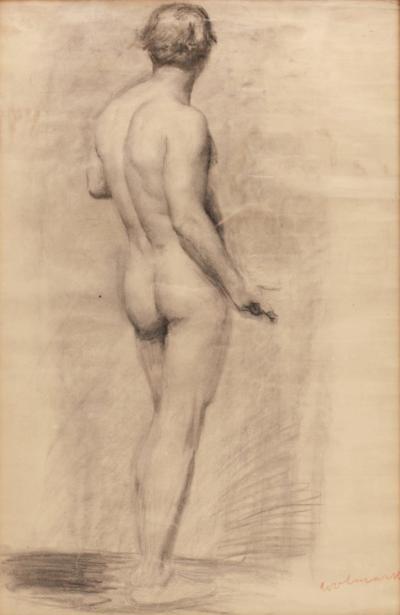Alfred Wolmark Male Nude Study by Alfred Wolmark 1877 1961