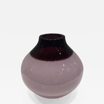 Alfredo Barbini Alfredo Barbini Burgundy Wine and Pink Colored Venetian Murano Vase