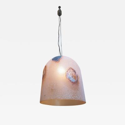 Alfredo Barbini Barbini stamped Murano Glass Mid Century Modern Pendant Light