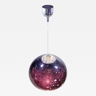 Alfredo Barbini Large Italian Handblown Glass Suspension Light Fixture by Alfredo Barbini