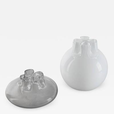 Alfredo Barbini Pair of Quattro Fori Vases by Flavio Barbini for Alfredo Barbini