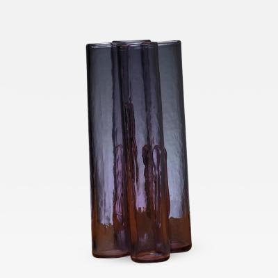Alfredo Barbini Purple Murano Glass Vase by Barbini