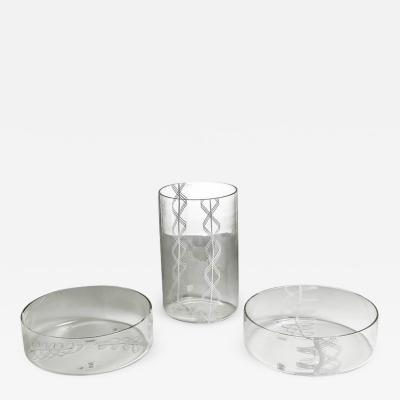 Alfredo Barbini Set of Three Vases by Barbini