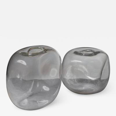 Alfredo Barbini Set of Two Murano Glass Vases by Barbini
