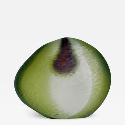 Alfredo Barbini Sommerso Glass Vase Signed