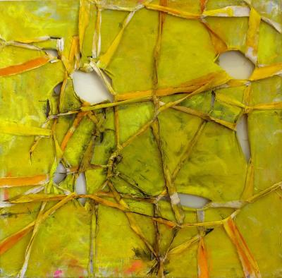 Alfredo Ulloa Alfredo Ulloa Pierre Yellow 1 Abstract Painting