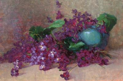 Alice Brown Chittenden Still Life with Violets