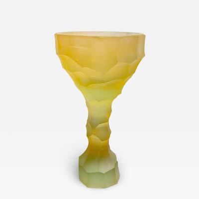 Alissa Volchkova YELLOW HAND SCULPTED CRYSTAL GLASS BY ALISSA VOLCHKOVA