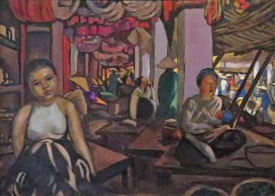 Alix Aym Market Scene at Hanoi